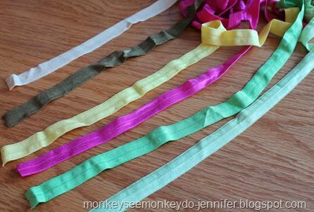 Monkey See Monkey Do Diy Fold Over Elastic Hair Ties
