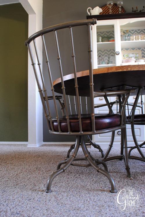 Faux Bamboo Metal Swivel Chairs12
