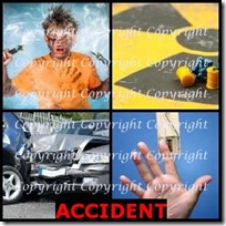ACCIDENT- 4 Pics 1 Word Answers 3 Letters