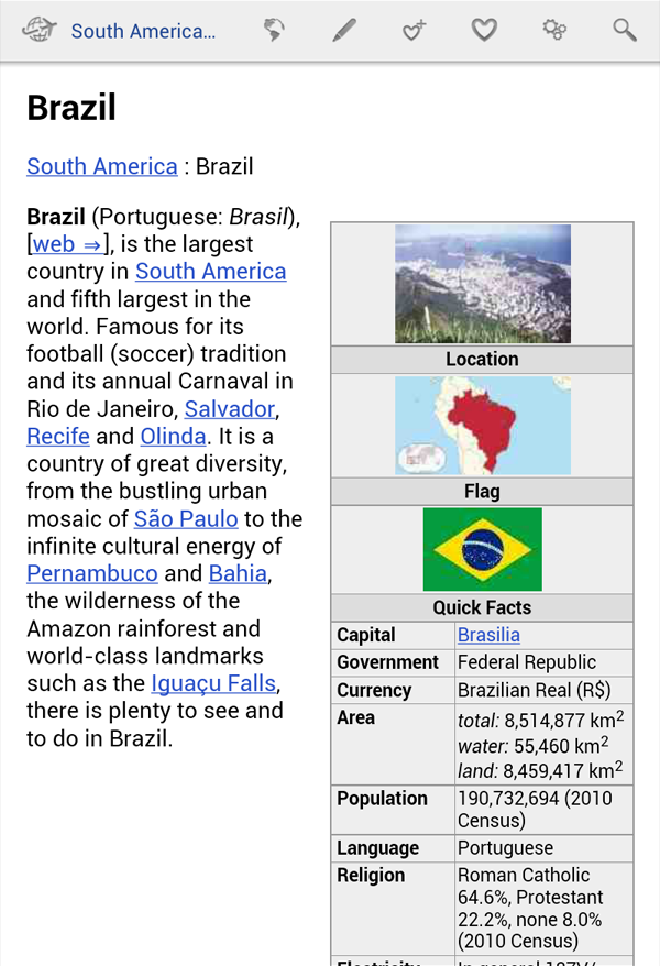 South America Travel Guide - screenshot