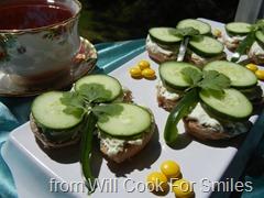 Cucumber Tea Sandwiches - Shamrocks