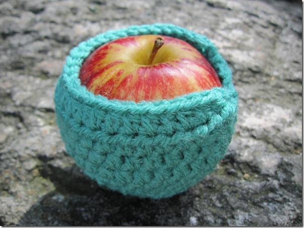 Hæklet æblebeskytter