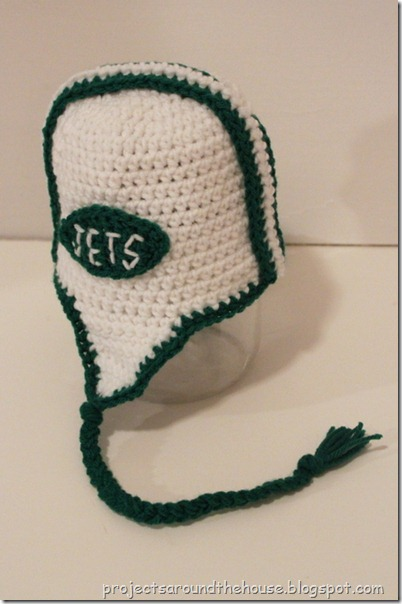 crochet toddler football helmet hat pattern, jets