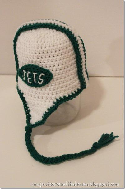 crochet toddler football helmet hat pattern, jets