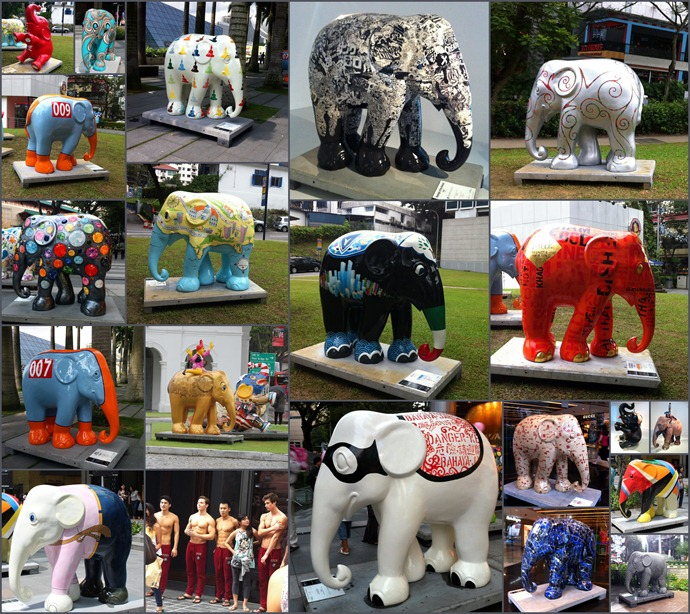 Elephants parade
