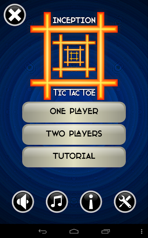 Inception Tic Tac Toe - screenshot