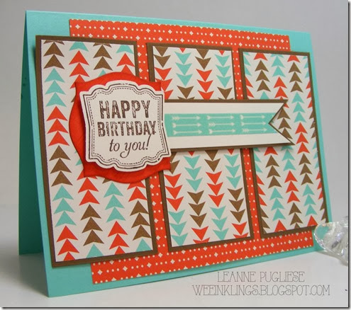 LeAnne Pugliese WeeInklings Label Love Birthday STampin Up
