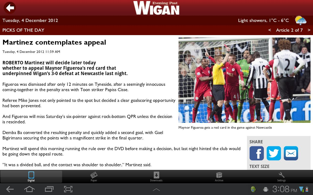 Wigan Evening Post - screenshot
