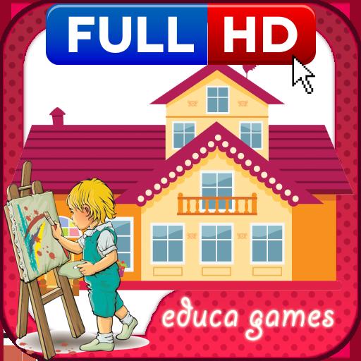 涂色游戏:我的家 教育 LOGO-玩APPs