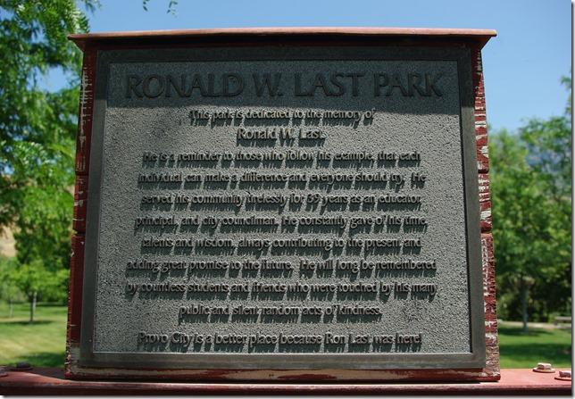 Ronald W. Last Park Provo Utah