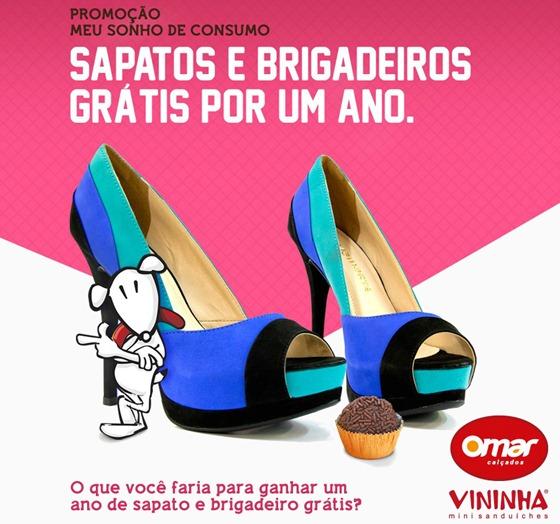 78d18113eb Sapatos e Brigadeiros grátis por um ano – Promoção Vininha e Omar Calçados.