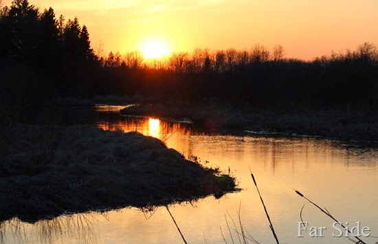 Sunset on Shell River in May