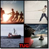 TUG- 4 Pics 1 Word Answers 3 Letters