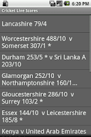 Screenshot of Cricket Live Scores - Free
