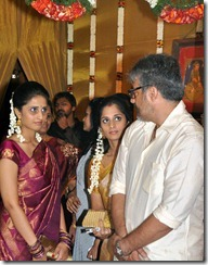 Shalini, Ajith at Actor Mirchi Shiva Marriage Photos