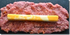 burger cheese dog