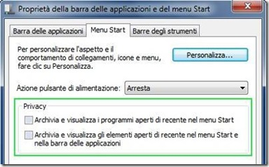 Eliminare la cronologia Esegui su Windows 7
