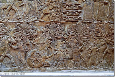 Nineveh, north palace of Ashurbanipal, after capture of Babylon, tb112004733