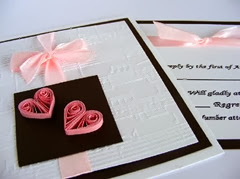 quilled paper wedding invitations