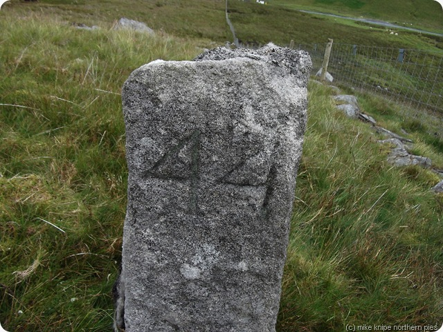 numbered boundary stone