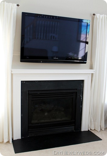 painting fireplace white diy newlyweds diy home decorating ideas projects white painted