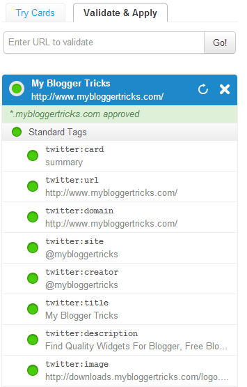 Add Twitter Cards to Blogger Correctly
