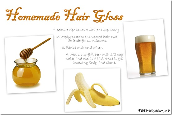 Do It Yourself Homemade Hair Gloss