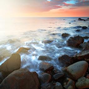 Light Impulse by Gabriele Copez - Landscapes Waterscapes ( #sea #sunset #sardegna #coast #cliff #tides #sunlight )