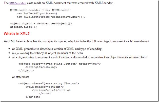 Dinis Cruz Blog: Using XMLDecoder to execute server-side Java Code