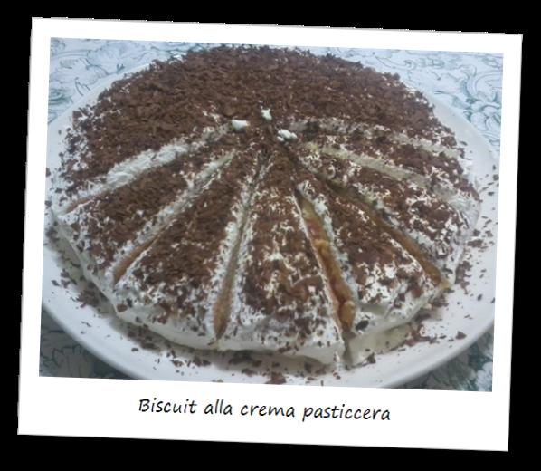 Fotografia della torta Biscuit alla crema pasticcera