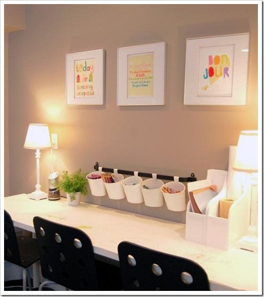 Basement Workout Area: 15 Homework Station Ideas