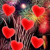 Hearts Firework Live wallpaper