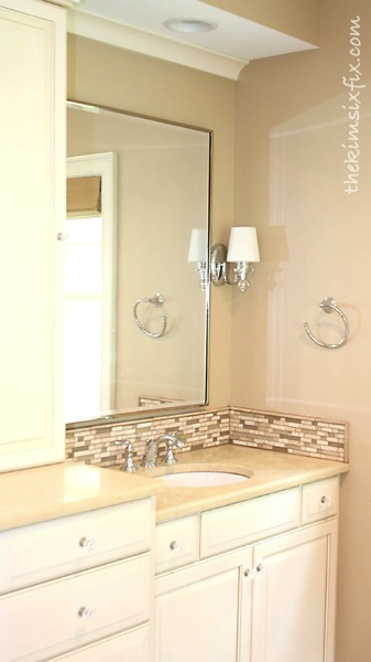 Bathroom vanity backsplash