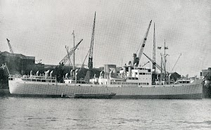 Viaje inaugural del BREÑAS. Docks de London. De la revista THE MOTOR SHIP. Abril de 1933