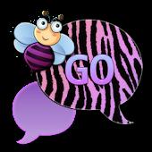 GO SMS - Zebra Pastel Bee