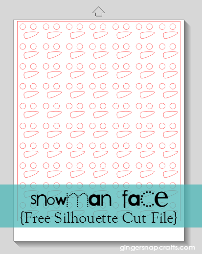 Snowman Face ~ Free Silhouette Cut File at GingerSnapCrafts.com