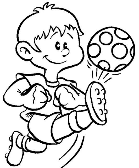 Futbol Dibujos Para Colorear
