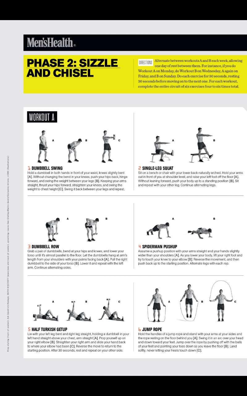 Nasm Workout Template With each workout and look