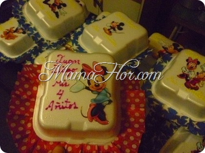 Cajas de Pastel de Minnie y Mickey Mouse - 405