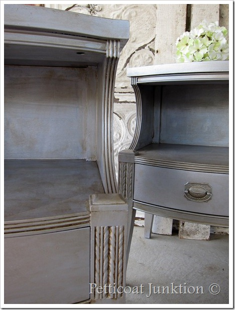 Silver Metallic Paint Adds Glamour To Furniture