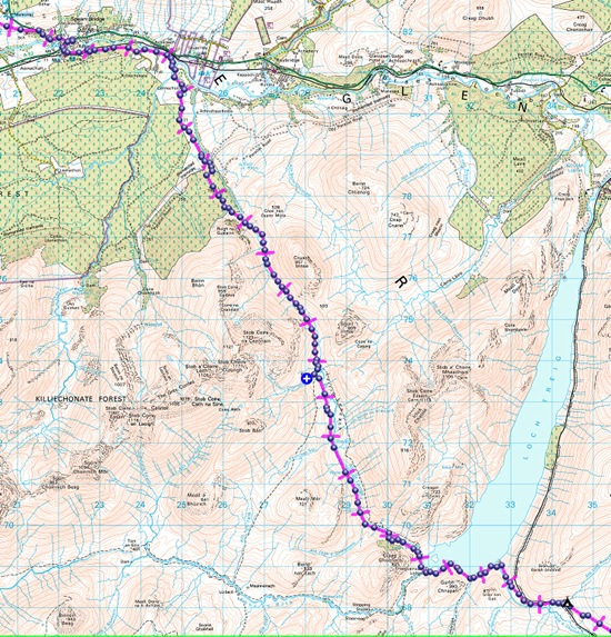 TGO CHALLENGE 2012- DAY 5 MAP