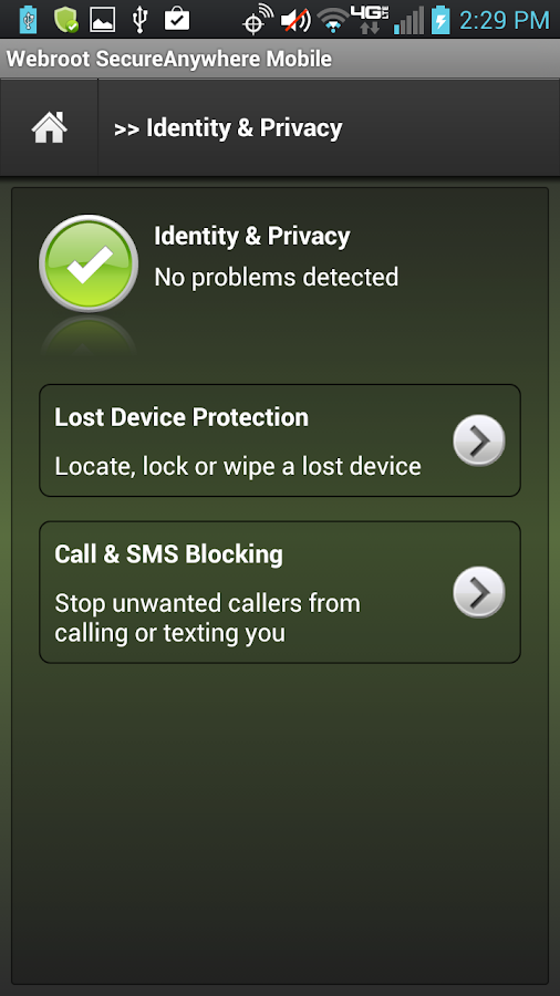 Mobile Security- screenshot