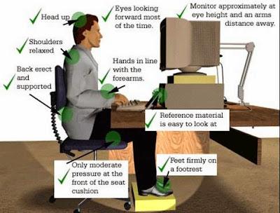 posisi duduk saat memakai komputer