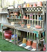 potting bench from a playset