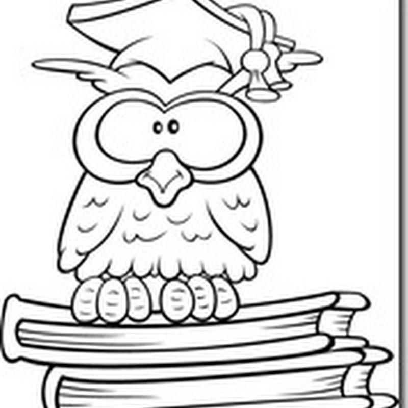 Dibujos para colorear niños graduados