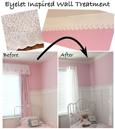 Eyelet inspired wall treatment