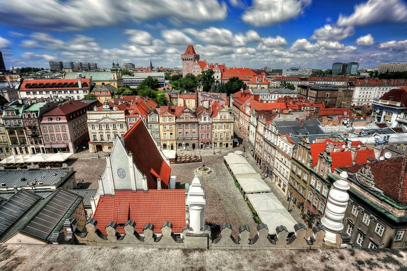 View from top of town hall Poznan market square scaled