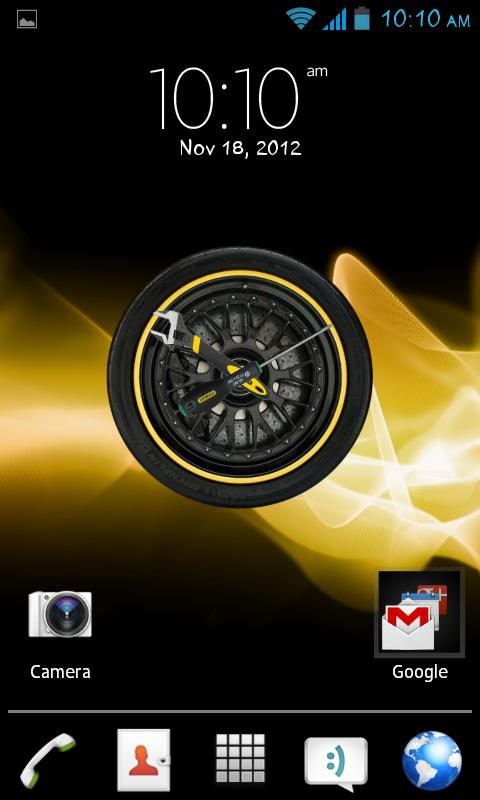 Wheel Analog Clock HD free - screenshot