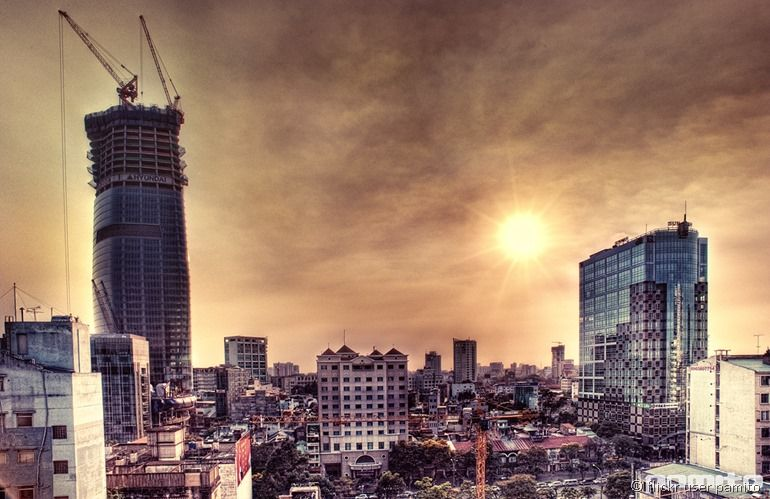 Sunset Ho Chi Minh city from flickr user Pamito