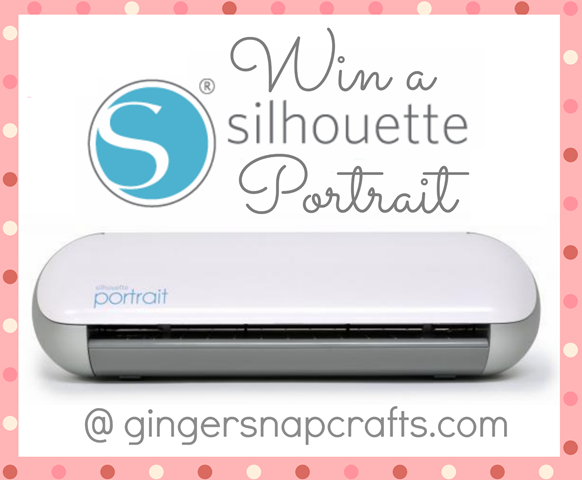 Silhouette Portrait giveaway at #gingersnapcrafts #silhouette #giveaway